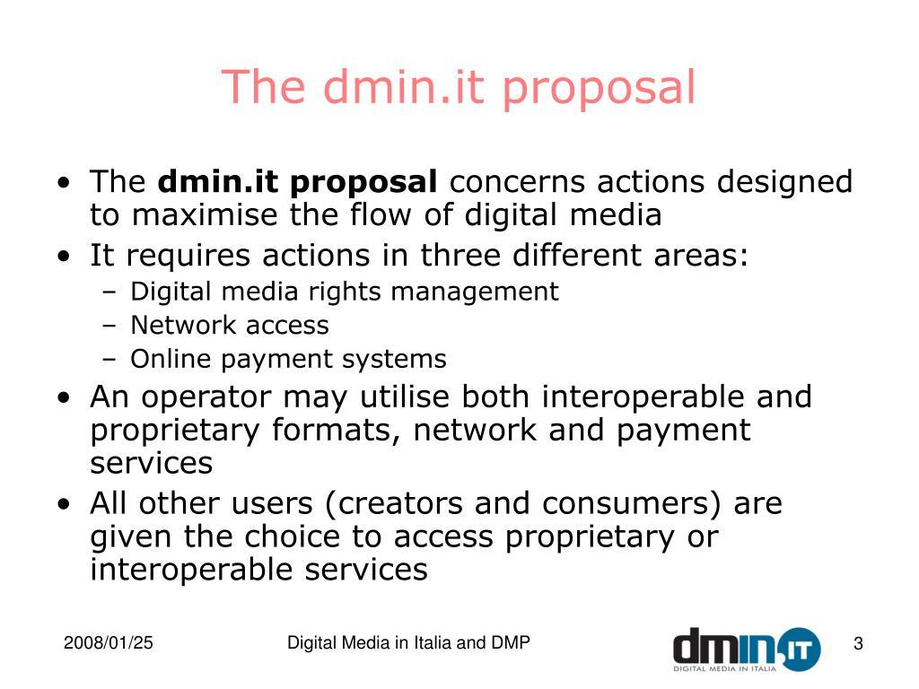 The dmin.it proposal