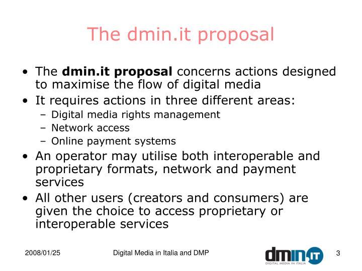 The dmin it proposal