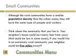 small communities11