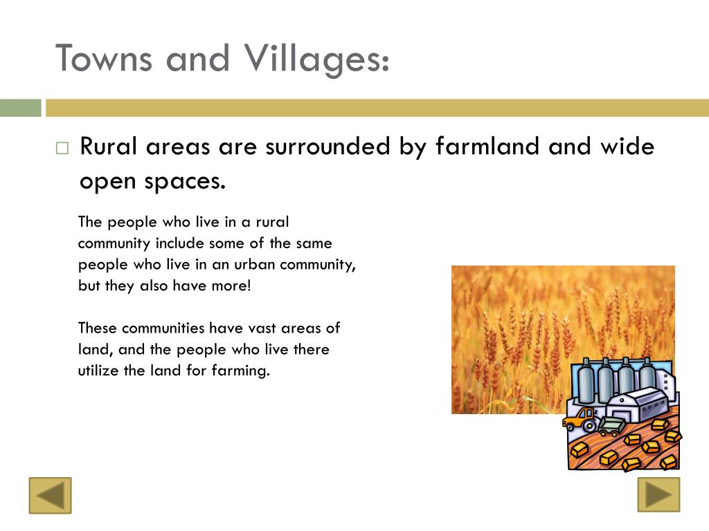 Towns and Villages: