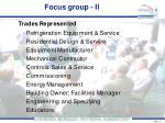 focus group ii