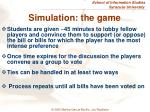 simulation the game
