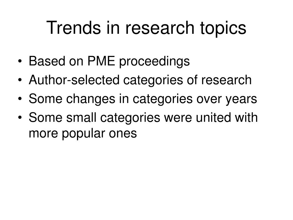 Trends in research topics
