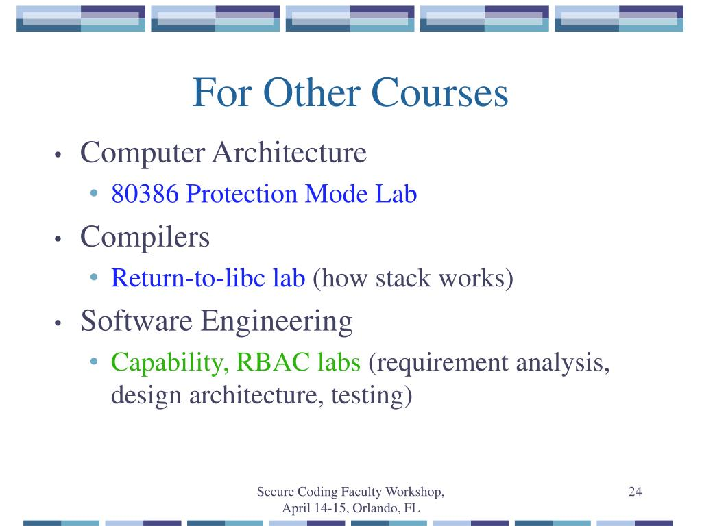 For Other Courses