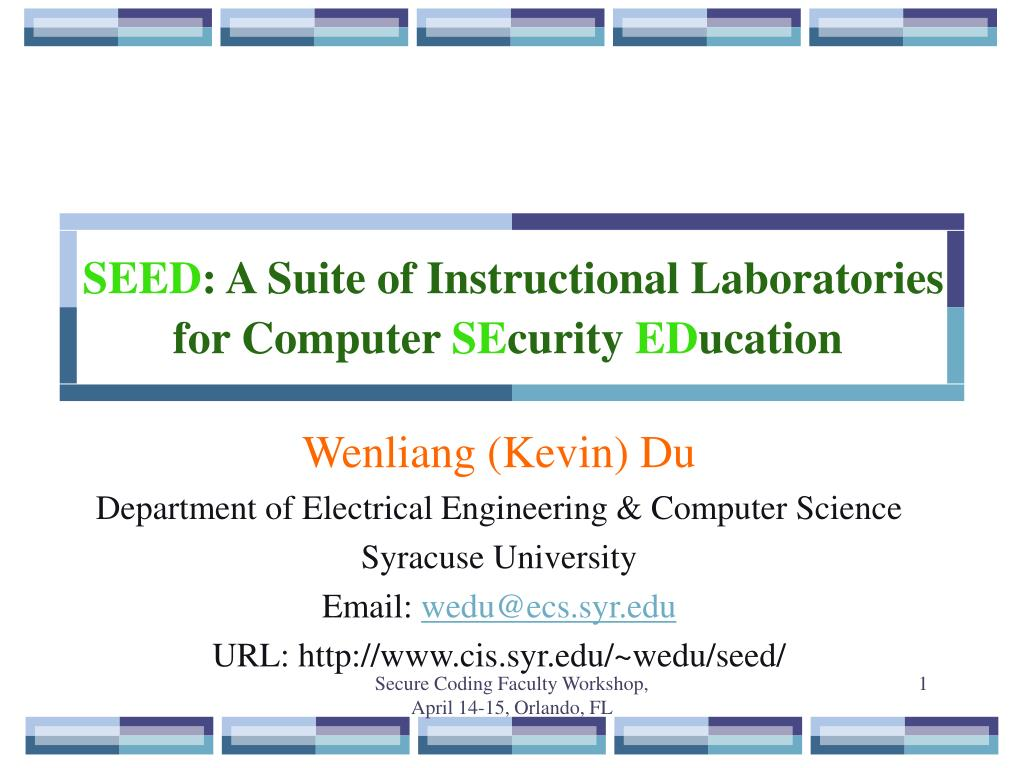 seed a suite of instructional laboratories for computer se curity ed ucation l.