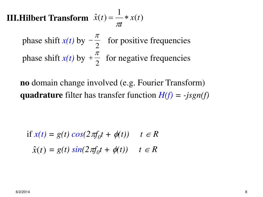 PPT - Outline I  Fourier Transform II  Unit Impulse Response