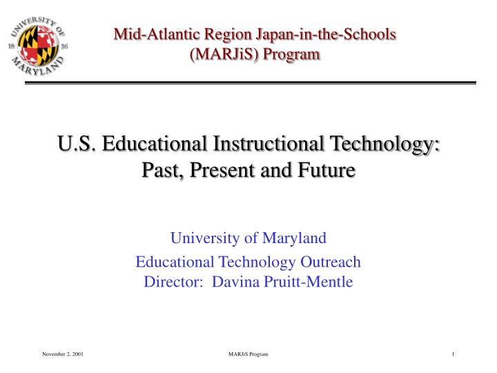 u s educational instructional technology past present and future n.