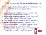 cbl licensee revenue generators