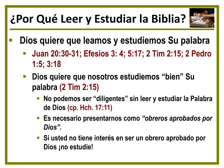 ¿Por Qué Leer y Estudiar la Biblia?