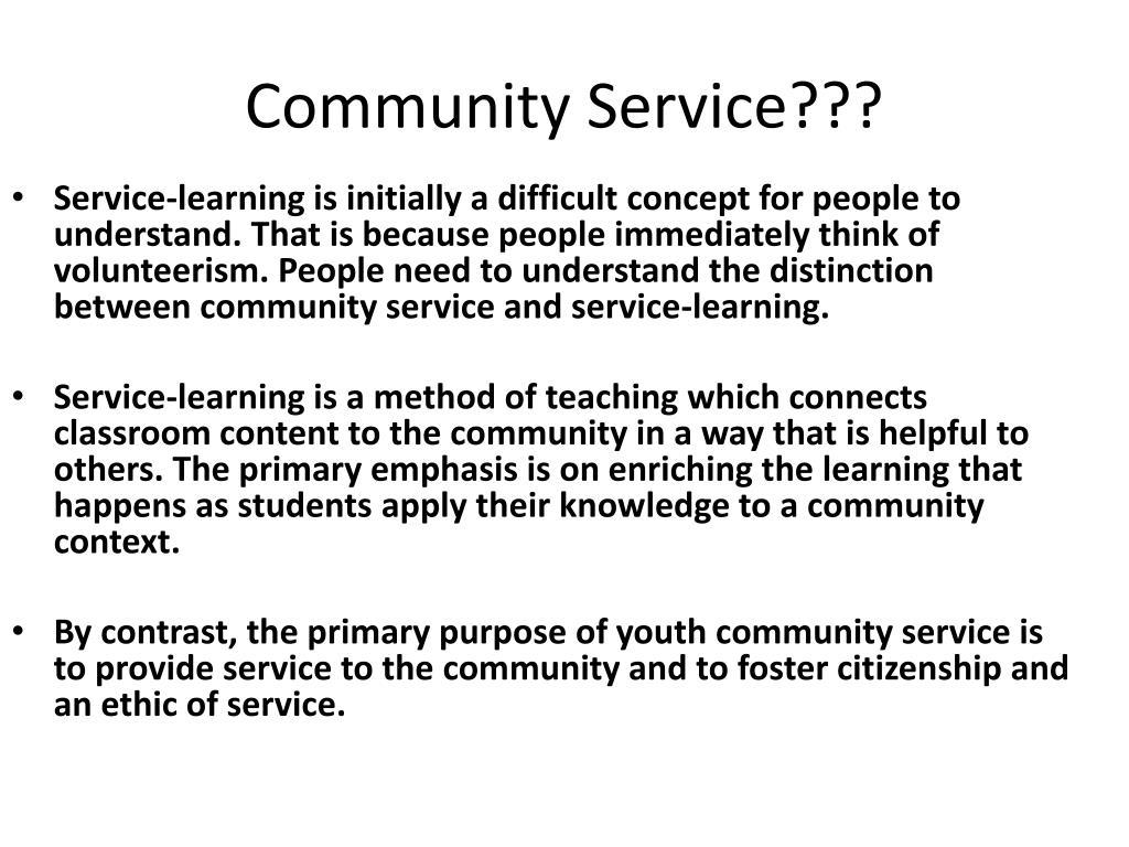 Community Service???