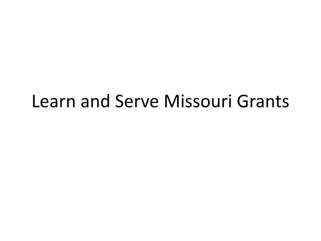 Learn and Serve Missouri Grants