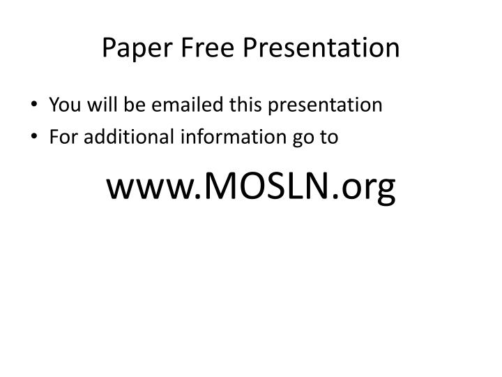 Paper free presentation