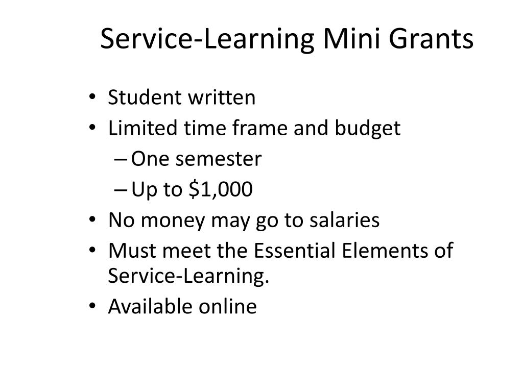 Service-Learning Mini Grants