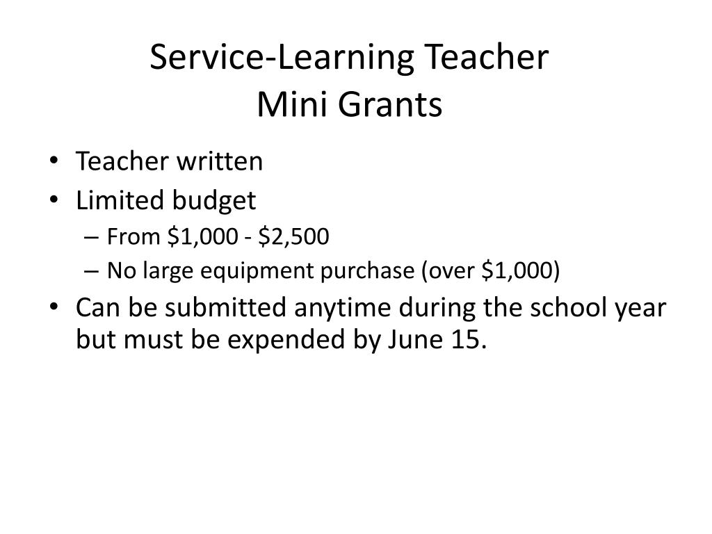 Service-Learning Teacher