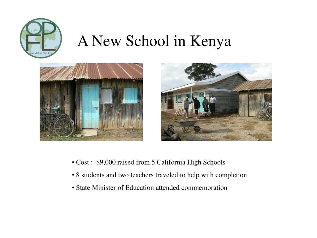 A New School in Kenya