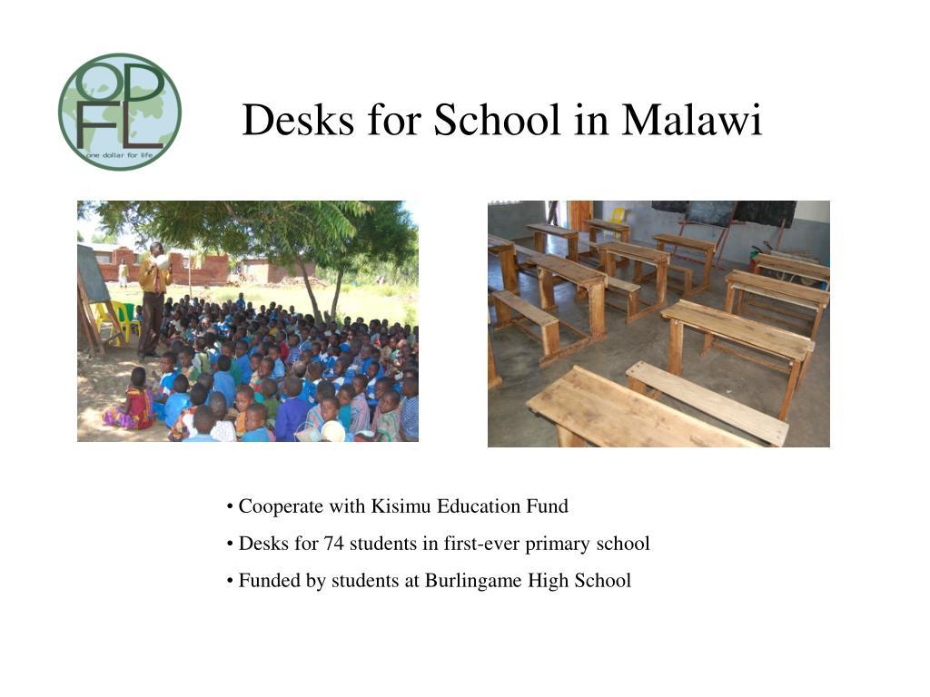 Desks for School in Malawi