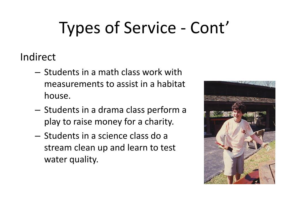 Types of Service - Cont'