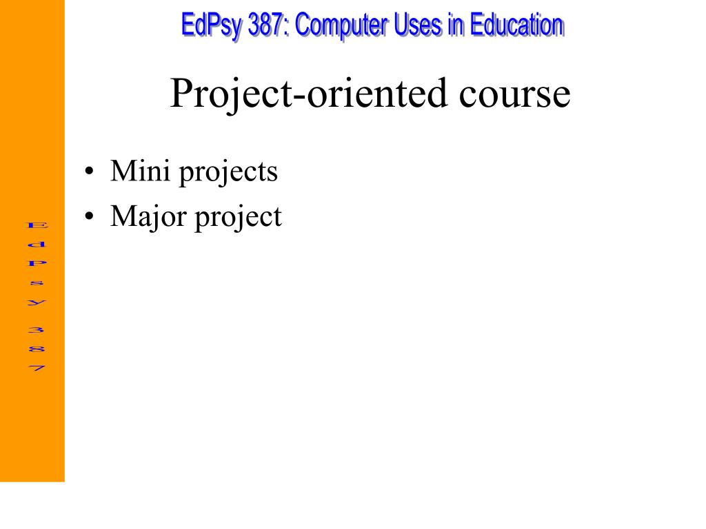 Project-oriented course
