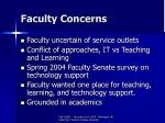 faculty concerns