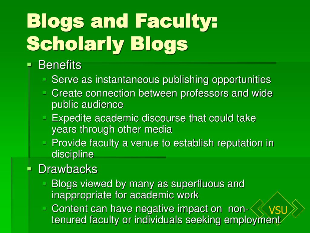 Blogs and Faculty: