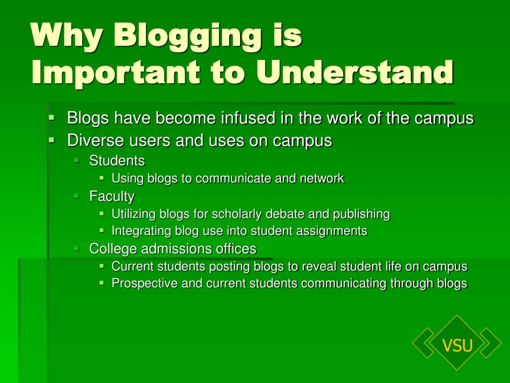 Why Blogging is