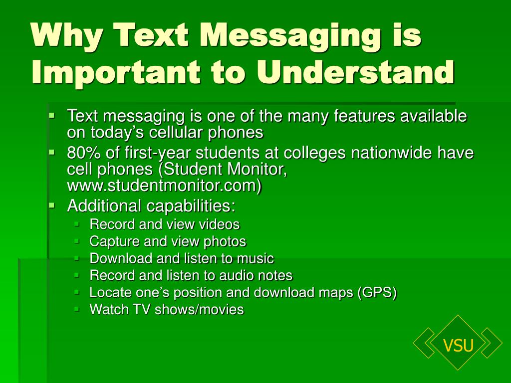Why Text Messaging is
