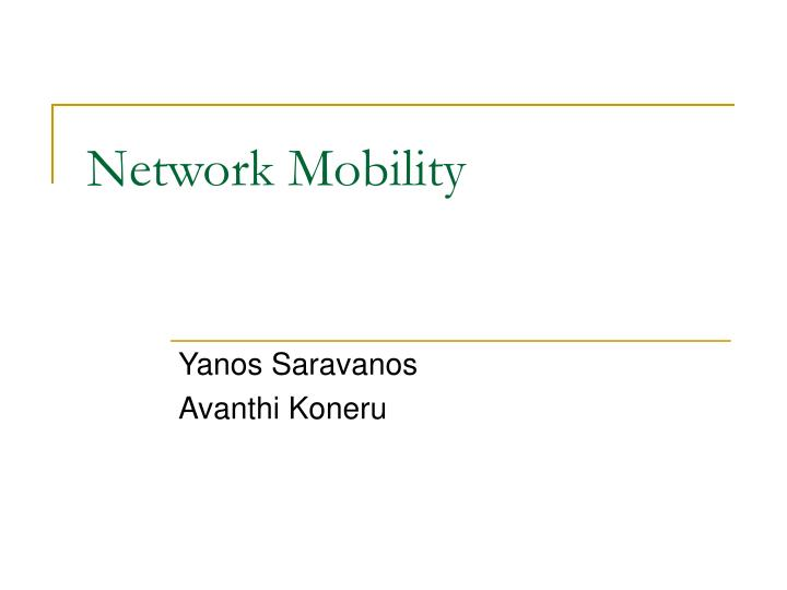 network mobility n.
