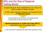 emu and the rise of regional trading blocks