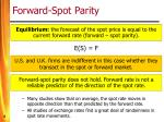 forward spot parity8