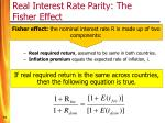 real interest rate parity the fisher effect