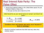 real interest rate parity the fisher effect15