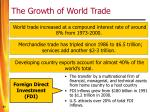 the growth of world trade