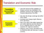 translation and economic risk
