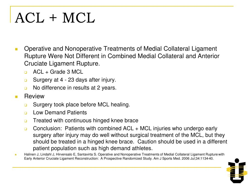 ACL + MCL