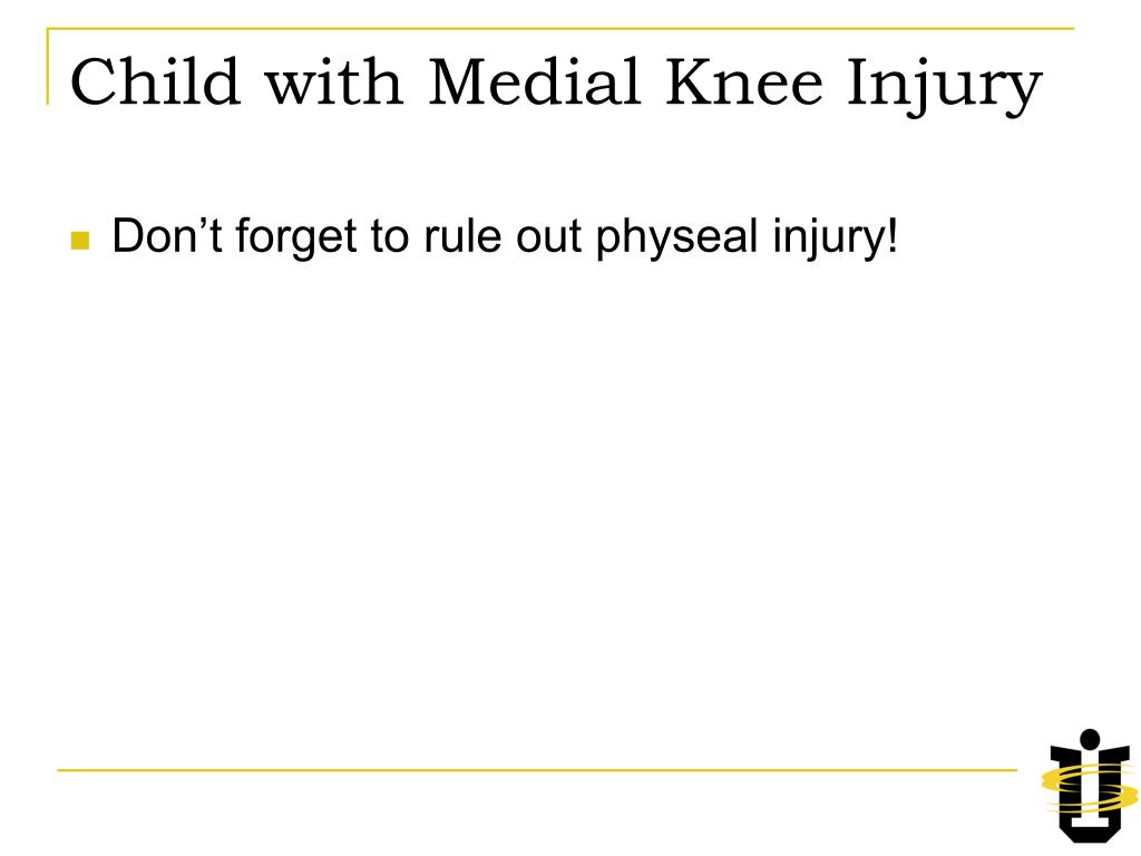 Child with Medial Knee Injury