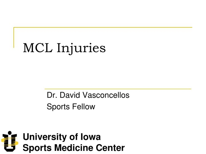 Mcl injuries