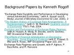 background papers by kenneth rogoff