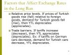 factors that affect exchange rates in the long run12