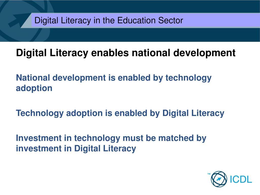 Digital Literacy enables national development