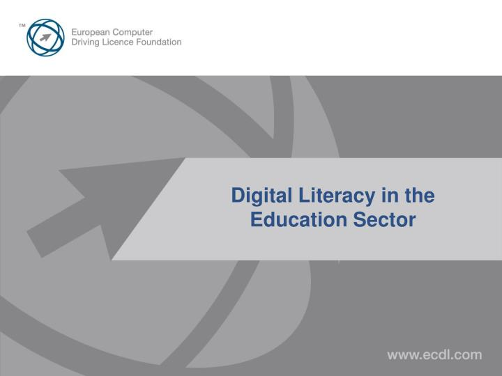 Digital literacy in the education sector