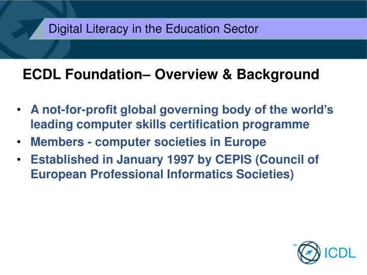 Ecdl foundation overview background