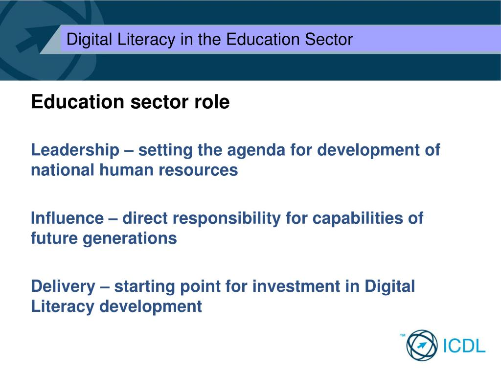 Education sector role