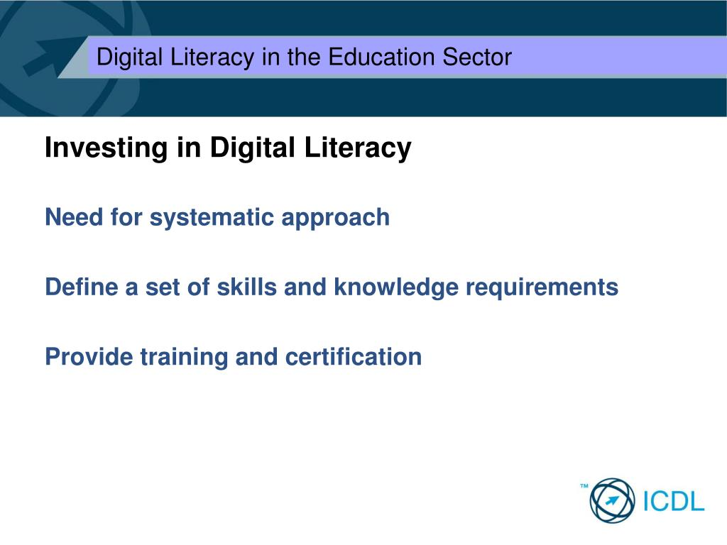 Investing in Digital Literacy