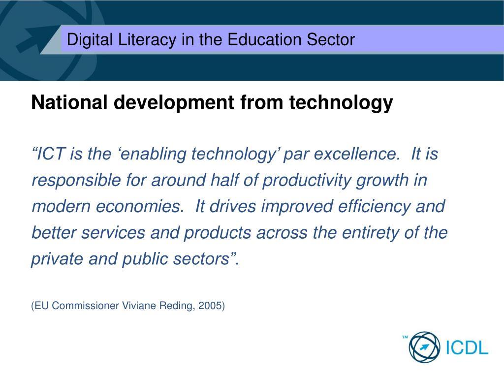 National development from technology