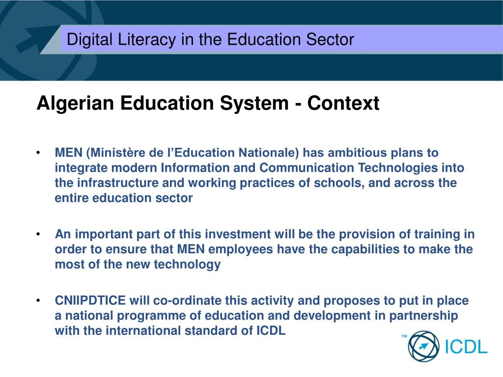 Algerian Education System - Context