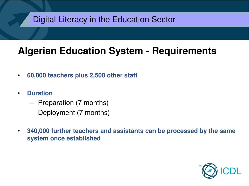 Algerian Education System - Requirements