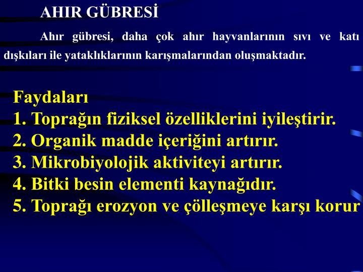 AHIR GÜBRESİ