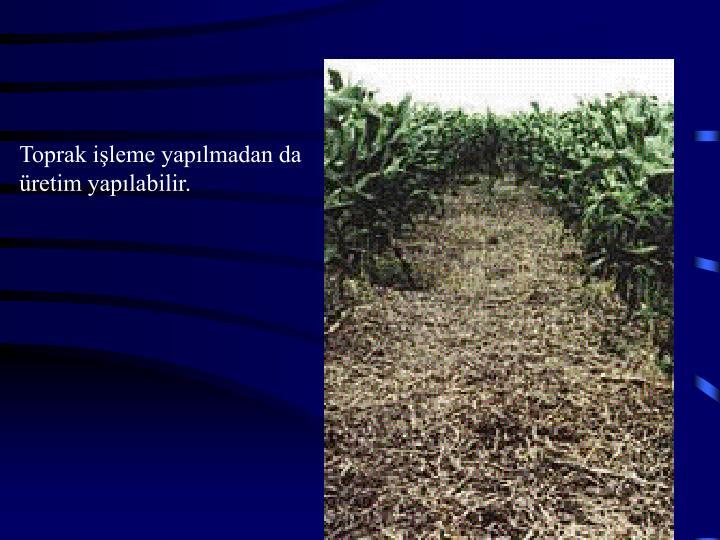 Toprak işleme yapılmadan da