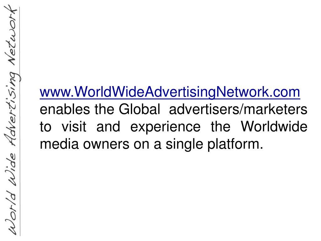 www.WorldWideAdvertisingNetwork.com