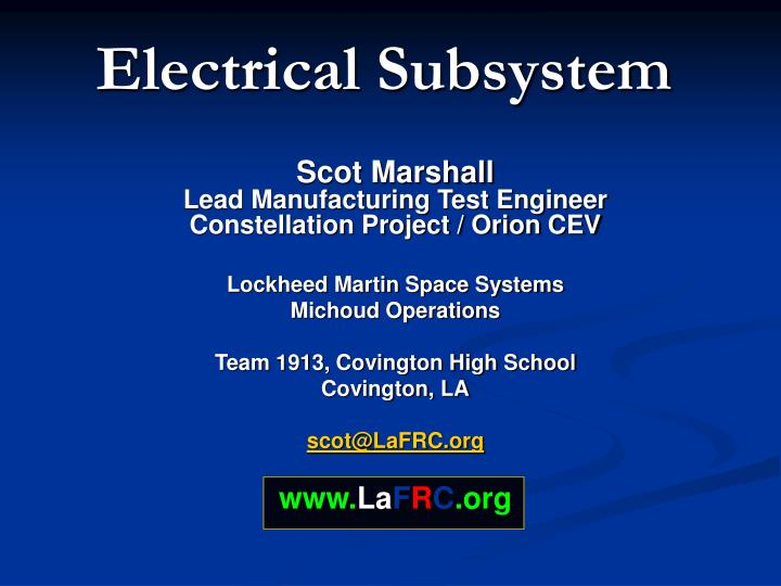 electrical subsystem n.